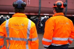 Doop en tewaterlating MV Ireland