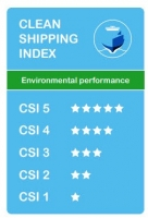 The Thun Evolve has obtained the highest possible ranking in the Clean Shipping Index, 5 stars.