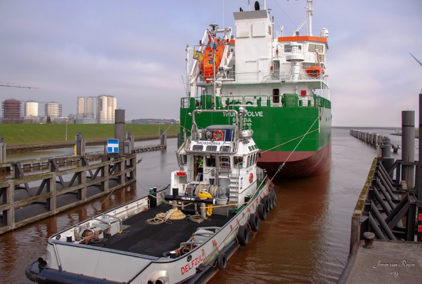 Thun Evolve leaving EEmshaven
