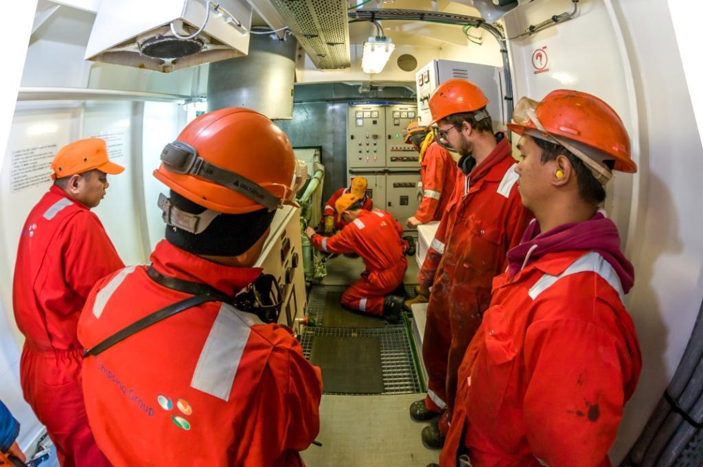 Crew on board tanker
